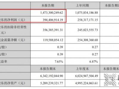国瓷材料上半年净利润达3.94亿元,比上年同期增长52.68%